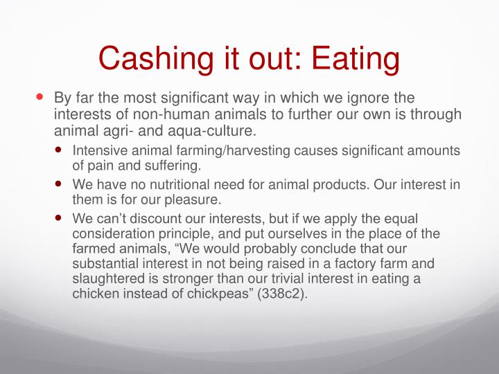 Cashing it out: Eating