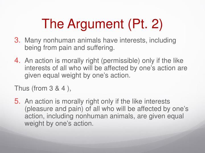 The Argument (Pt. 2)