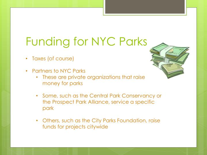 Funding for NYC Parks