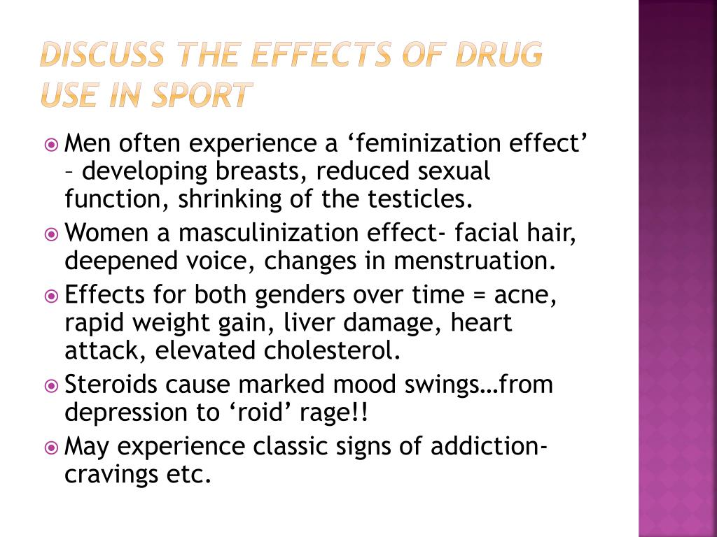 PPT - Problems in sport: Reasons for using drugs and their effects