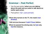 grammar past perfect