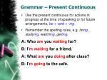 grammar present continuous