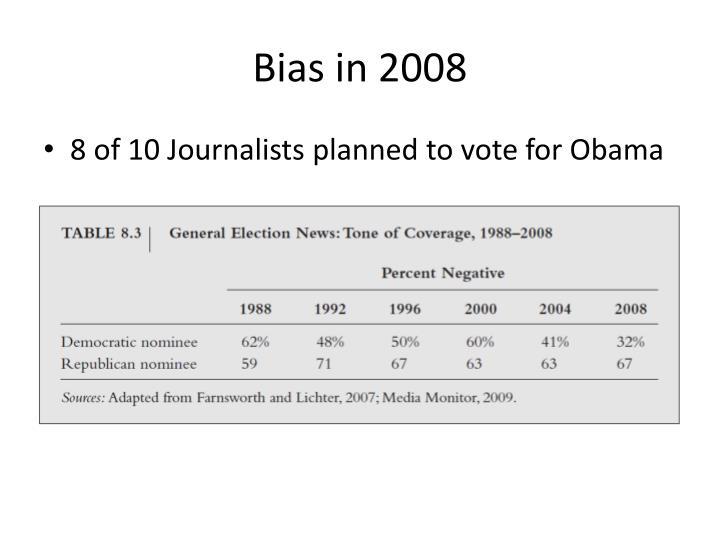 Bias in 2008