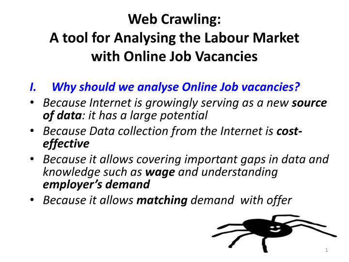 Web crawling a tool for analysing the labour market with online job vacancies