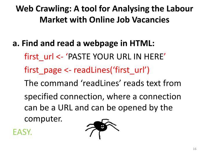 Web Crawling: