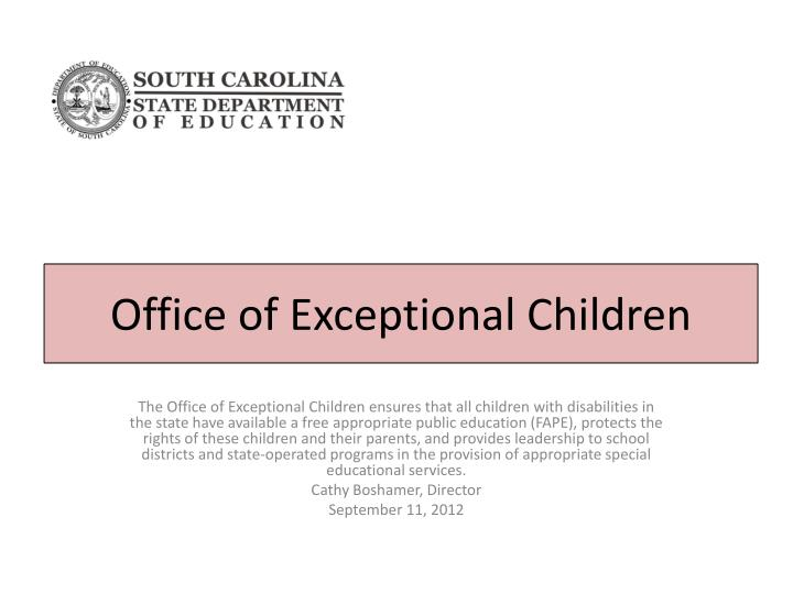 office of exceptional children n.