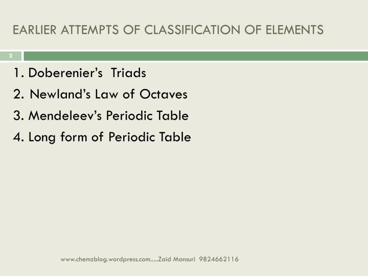 Ppt Chapter 3 Periodic Classification Powerpoint Presentation Id