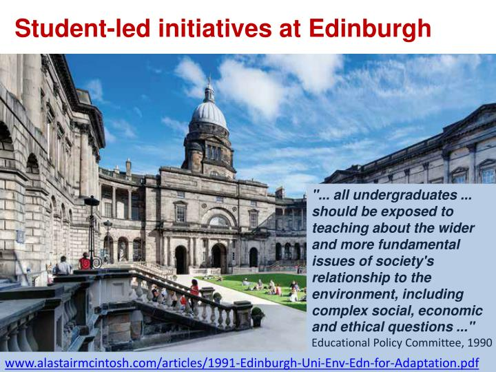 Student-led initiatives at