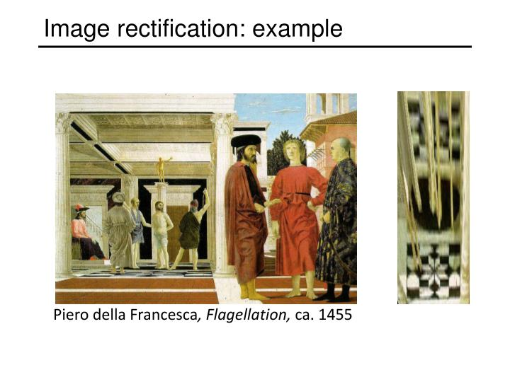 Image rectification: example