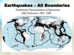 earthquakes all boundaries