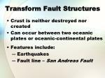 transform fault structures