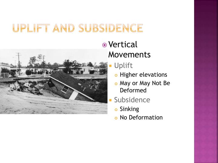 Uplift and Subsidence