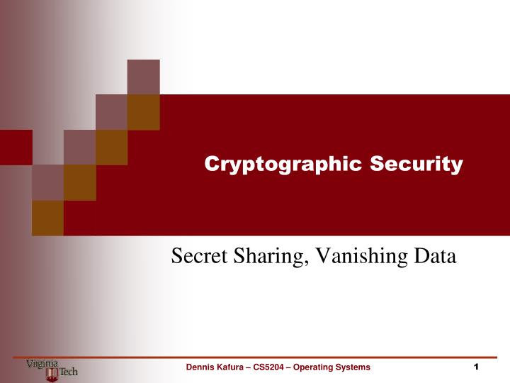 cryptographic security n.