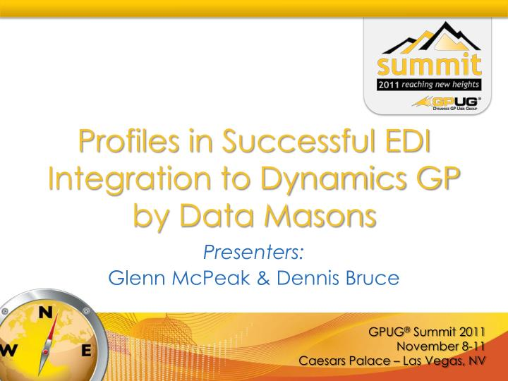 Profiles in successful edi integration to dynamics gp by data masons
