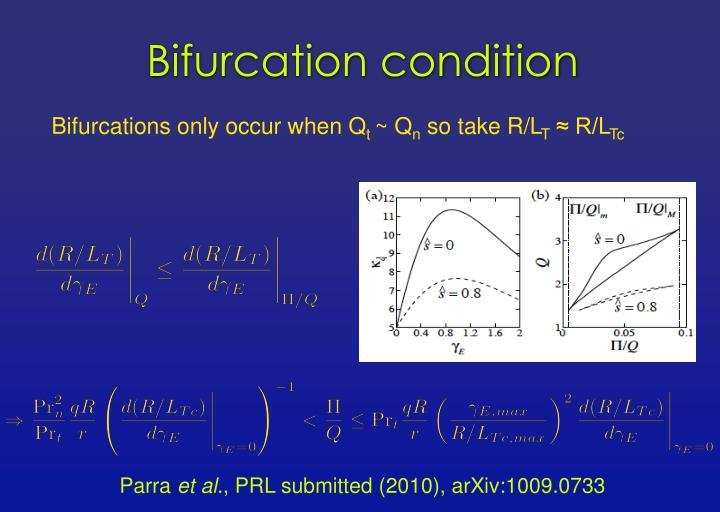 Bifurcation condition
