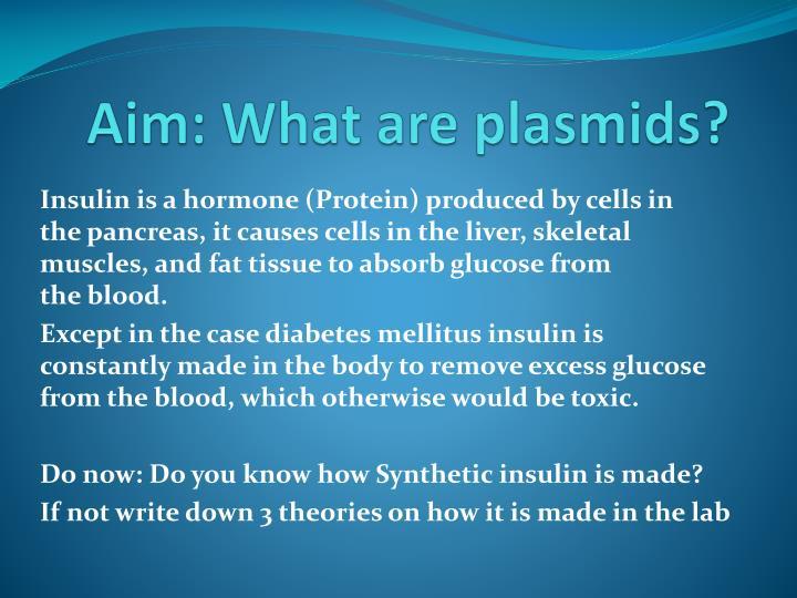 Aim what are plasmids