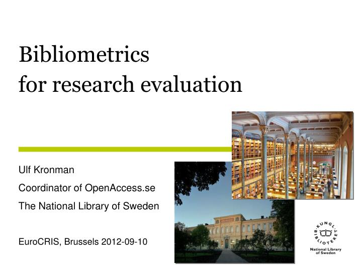 introduction to bibliometrics Introduction welcome to the online companion to the savvy researcher research metrics workshop research metrics, or bibliometrics, refer to the statistical analysis of written publications, mainly articles alan pritchard created the term in.