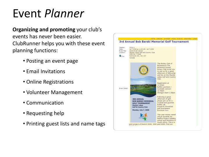 PPT - Event Planner PowerPoint Presentation - ID:2615555