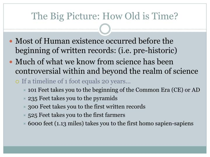 The big picture how old is time