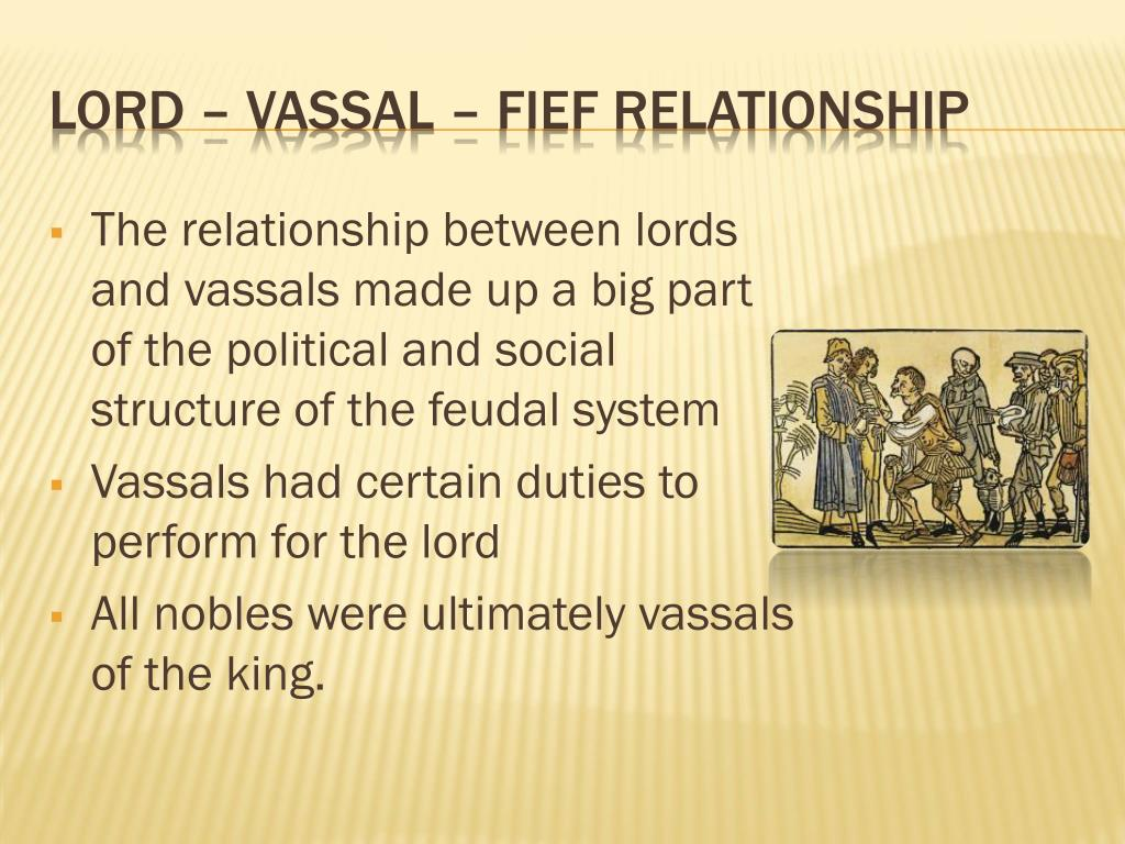 Lord and vassal relationship