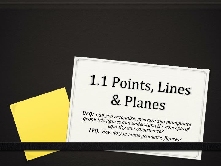 1 1 points lines planes n.