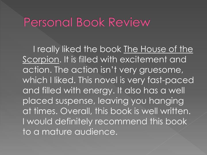 Personal Book Review