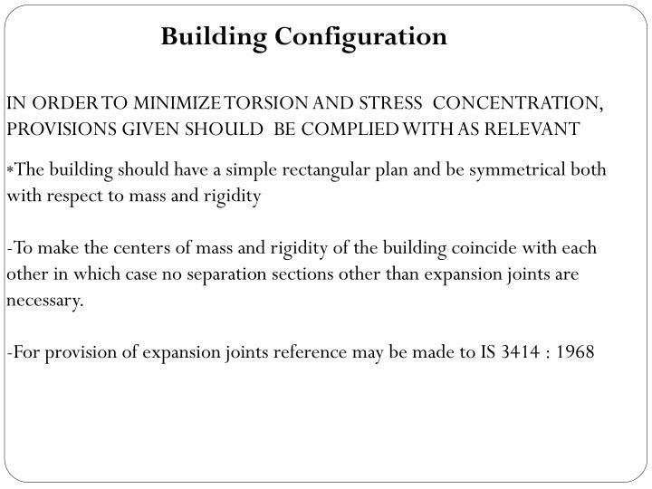 Building Configuration