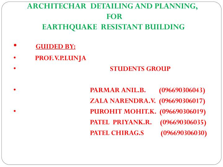 ARCHITECHAR  DETAILING AND PLANNING,