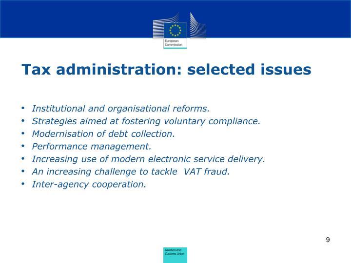 Tax administration: