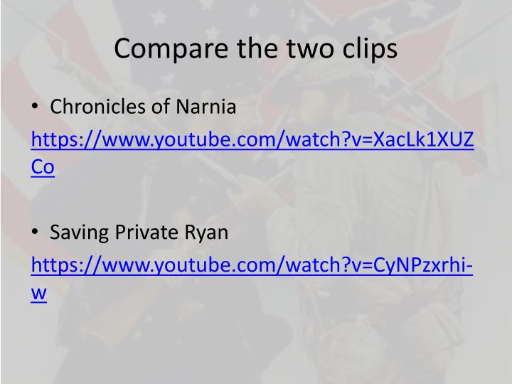compare the two clips n.