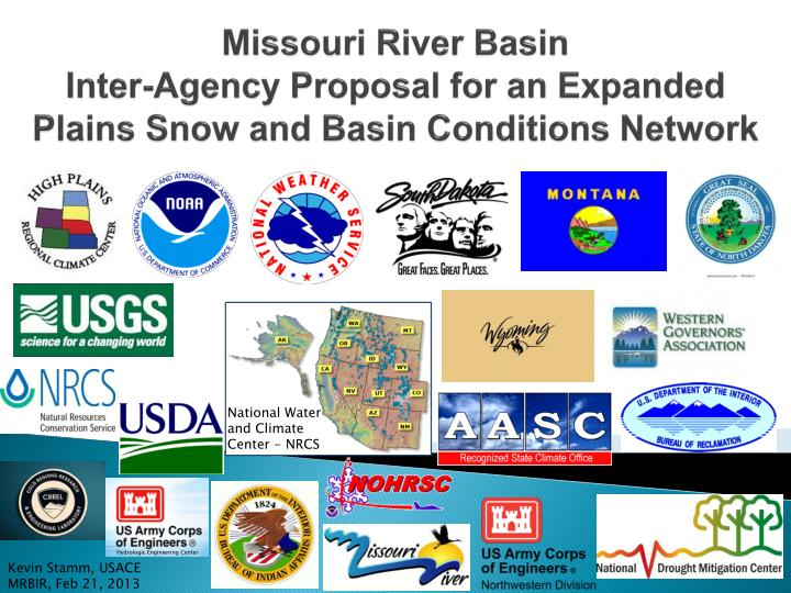 missouri river basin inter agency proposal for an expanded plains snow and basin conditions network n.