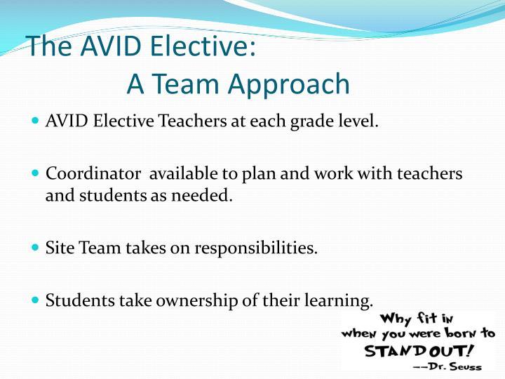 The AVID Elective: