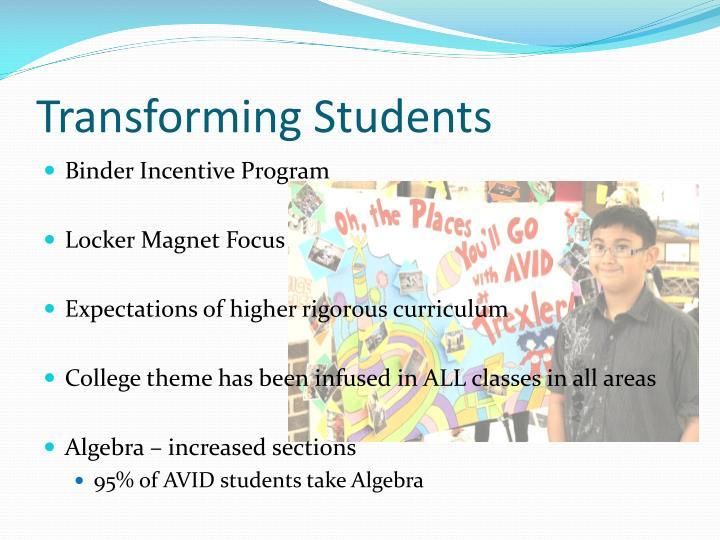 Transforming Students