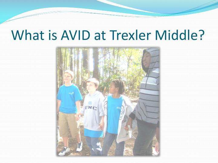 What is AVID at Trexler Middle?