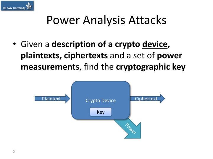 Power analysis attacks