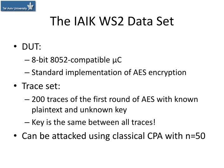 The IAIK WS2 Data Set