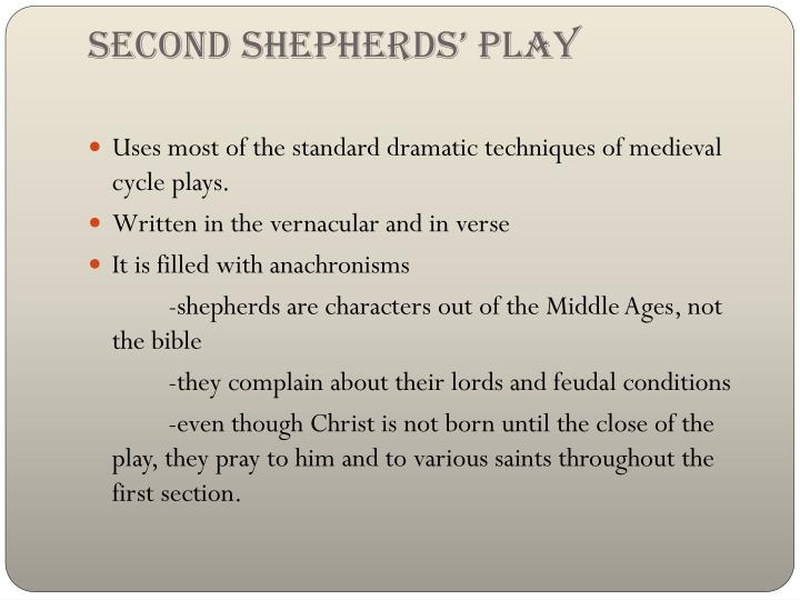 Second Shepherds' Play