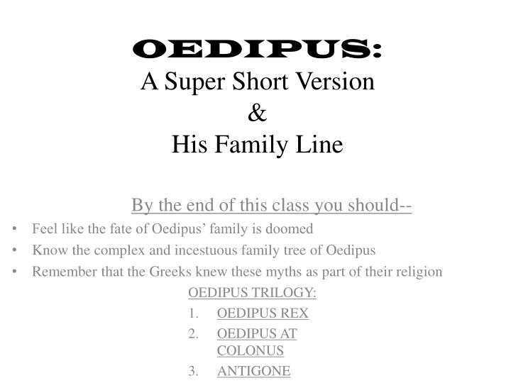 oedipus religion essay A summary of themes in sophocles's the oedipus plays learn exactly what happened in this chapter, scene, or section of the oedipus plays and what it means perfect for acing essays, tests, and quizzes, as well as for writing lesson plans.