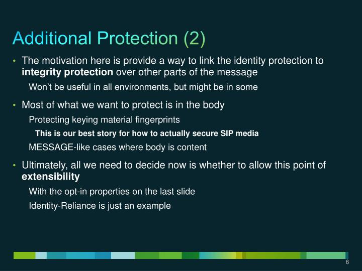 Additional Protection (2)