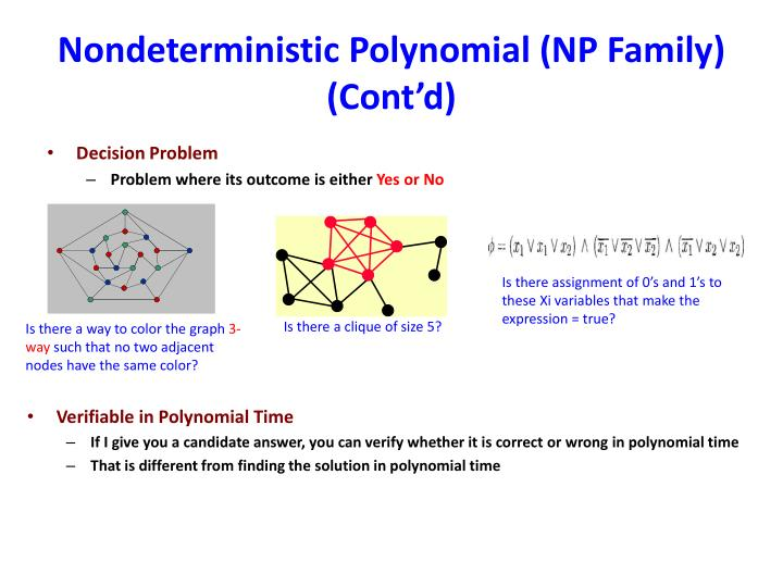 Nondeterministic Polynomial (NP Family