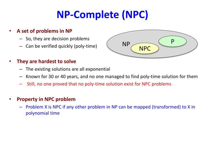 NP-Complete (NPC)