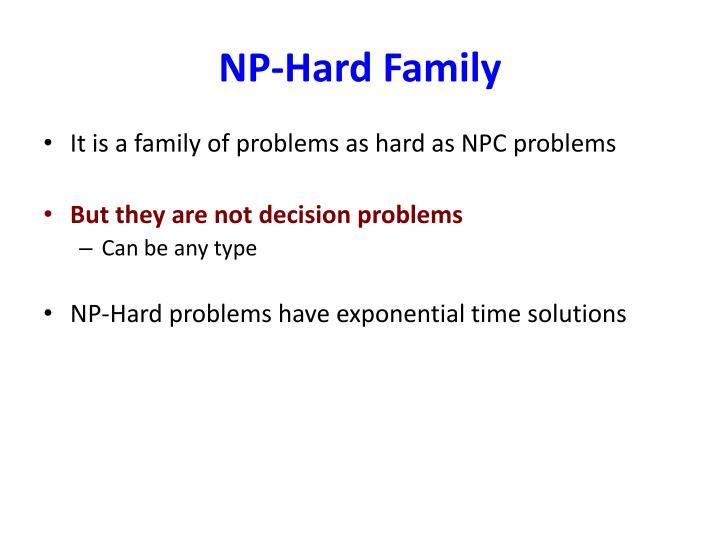 NP-Hard Family