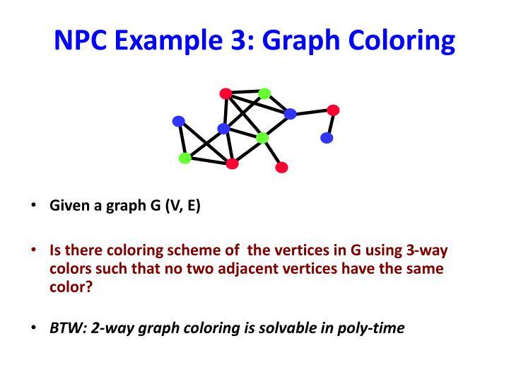 NPC Example 3: Graph Coloring