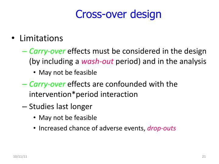 Cross-over design