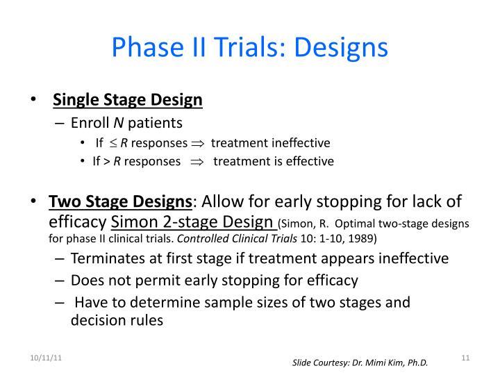 Phase II Trials: Designs