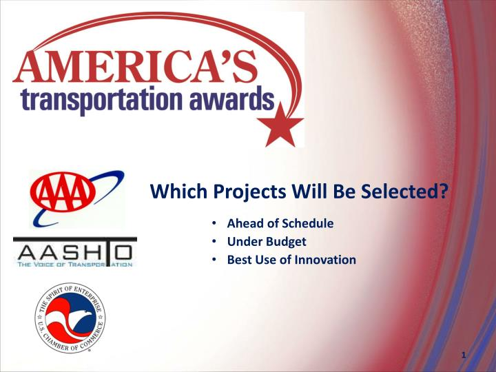 Which Projects Will Be Selected?