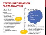 static information flow analysis