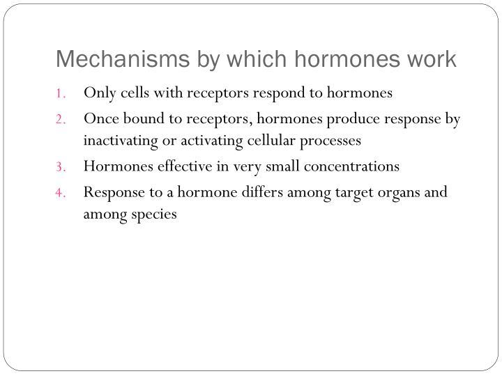 Mechanisms by which hormones work