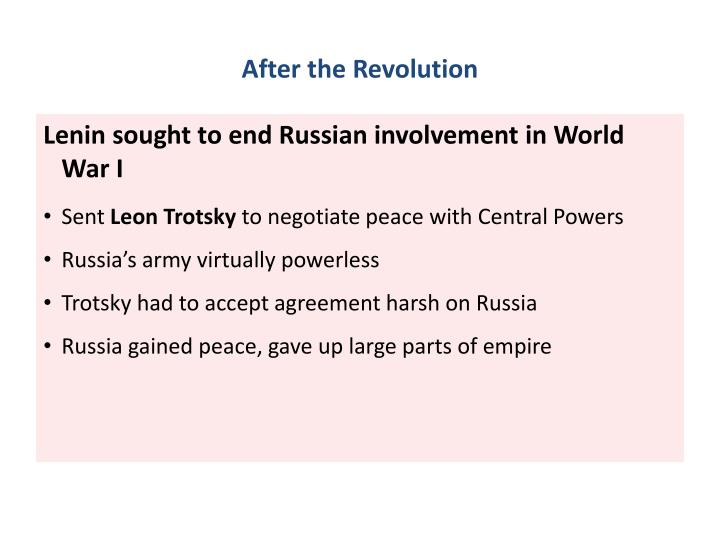 After the Revolution