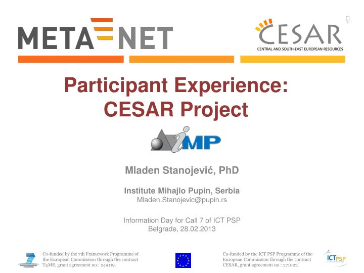 participant experience cesar project n.